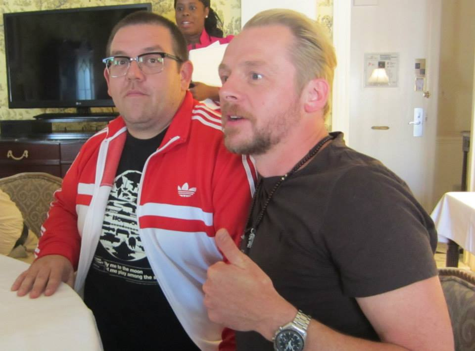 Nick Frost and Simon Pegg at the New York press day for 'The World's End' at The Waldorf Astoria, New York. Photo copyright 2013 Jay S. Jacobs