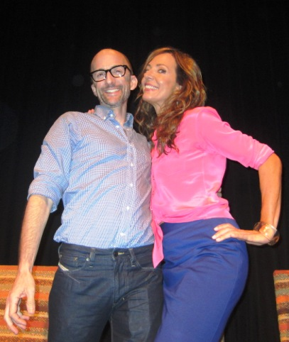 "Jim Rash and Allison Janney at the NY Press Day for ""The Way Way Back."""
