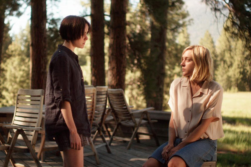 "Jena Malone and Chloe Sevigny star in ""The Wait."""