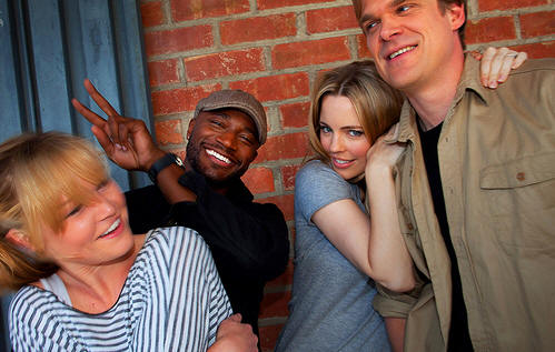 "Julia Stiles, Taye Diggs, Melissa George and David Harbour star in ""Between Us."""