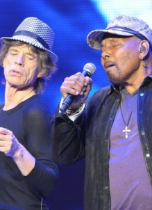 The Rolling Stones and Aaron Neville - Wells Fargo Center - Philadelphia, PA - June 21, 2013 - photo by Jim Rinaldi � 2013