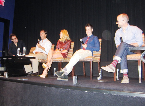 "Sam Rockwell, Nat Faxon, AnnaSophia Robb, Liam James and Jim Rash at the NY Press day for ""The Way Way Back."""