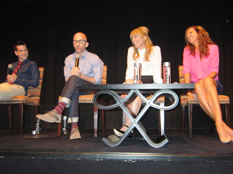 "Liam James, Jim Rash, Toni Collette and Allison Janney at the NY Press day for ""The Way Way Back"""
