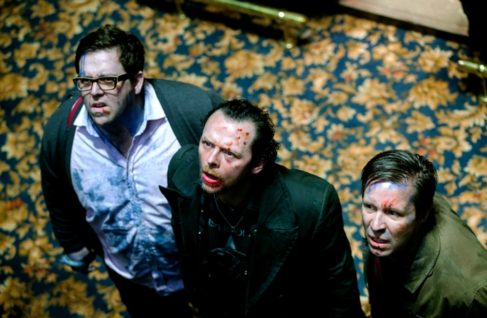 (l to r) Nick Frost as Andy, Simon Pegg as Gary and Paddy Considine as Steven in Edgar Wright�s new comedy THE WORLD�S END, a Focus Features release.