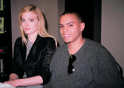 Gillian Jacobs and Evan Ross discuss 'Gardens of the Night' - The Regency Hotel, New York, October 30, 2008 - Photo: Jay S. Jacobs