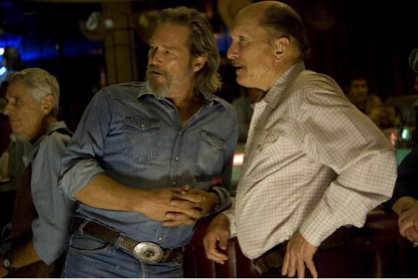 Jeff Bridges stars as country singer Bad Blake with Robert Duvall in 'Crazy Heart.'