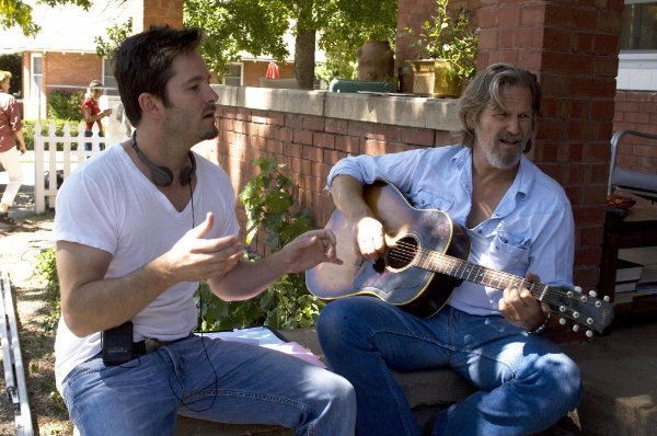Writer/Director Scott Cooper with Jeff Bridges, who stars as country singer Bad Blake in 'Crazy Heart.'