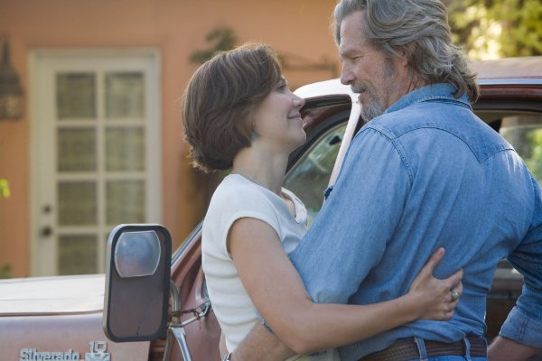 Jeff Bridges stars as country singer Bad Blake with Maggie Gyllenhaal as Jean in 'Crazy Heart.'