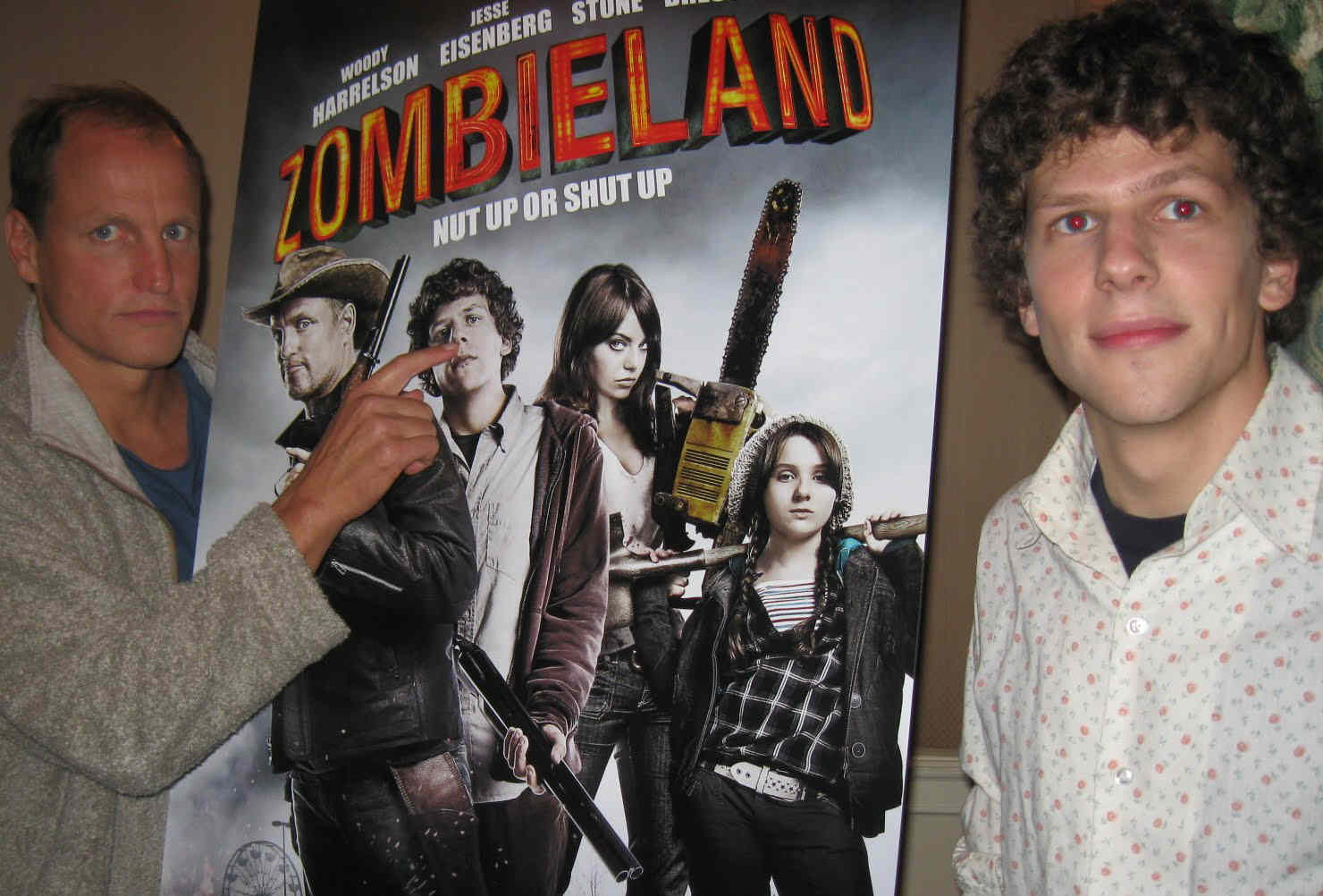 Woody Harrelson and Jesse Eisenberg - stars of 'Zombieland.'