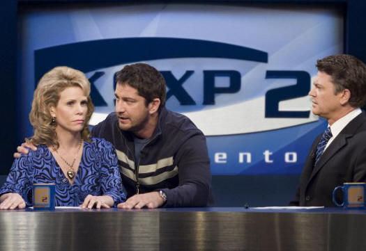 Cheryl Hines, Gerard Butler and John Michael Higgins in 'The Ugly Truth.'