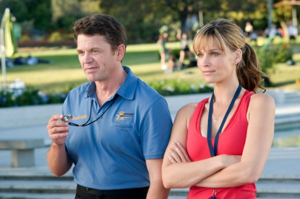 John Michael Higgins and Molly Sims in 'Fired Up!'