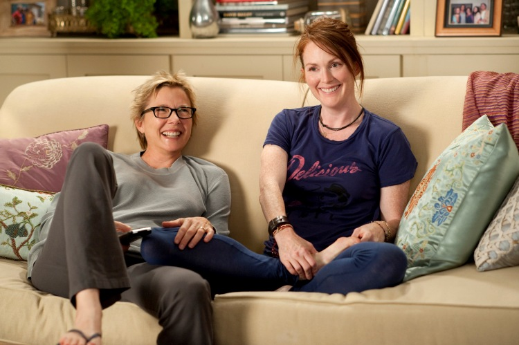 Annette Bening (left) and Julianne Moore (right) star as Nic and Jules in Lisa Cholodenko's THE KIDS ARE ALL RIGHT, a Focus Features release.