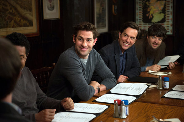 "THE OFFICE -- ""Finale"" Episode 924/925 -- Pictured: (l-r) John Krasinski as Jim Halpert, Ed Helms as Andy Bernard -- (Photo by: Colleen Hayes/NBC)"