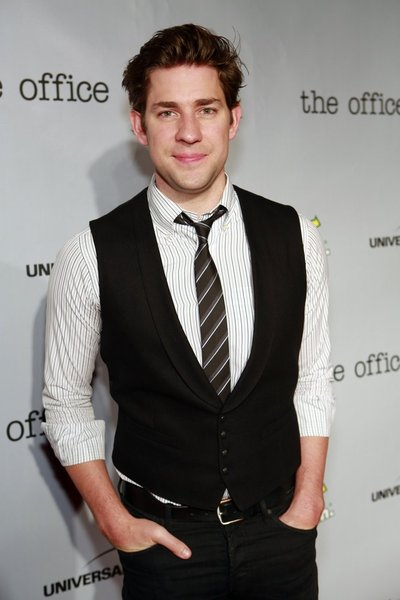 "NBCUNIVERSAL EVENTS -- The Office Wrap Party -- Pictured: John Krasinski at ""The Office"" wrap party at Unici Casa in Los Angeles, CA on Saturday, March 16. The Office airs Thursdays on NBC (9-9:30 p.m. ET/PT) -- (Photo by: Trae Patton/NBC)"