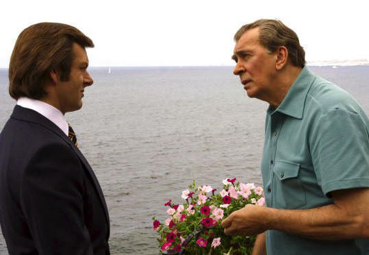 Michael Sheen as David Frost and Frank Langella as Richard Nixon in 'Frost/Nixon.'
