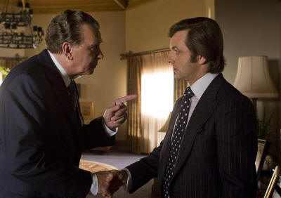 Frank Langella as Richard Nixon and Michael Sheen as David Frost in 'Frost/Nixon.'