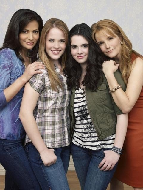 Constance Marie, Katie Leclerc, Vanessa Marano and Lea Thompson star in the ABC Family Channel series SWITCHED AT BIRTH.
