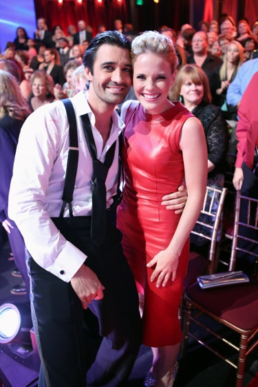 Gilles Marini and Katie Leclerc of SWITCHED AT BIRTH on the set of DANCING WITH THE STARS.