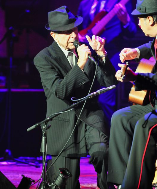 Leonard Cohen at the Academy of Music - May 2009 - Photo by Jim Rinaldi