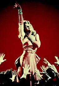 "Madonna in the ""Material Girl"" video."