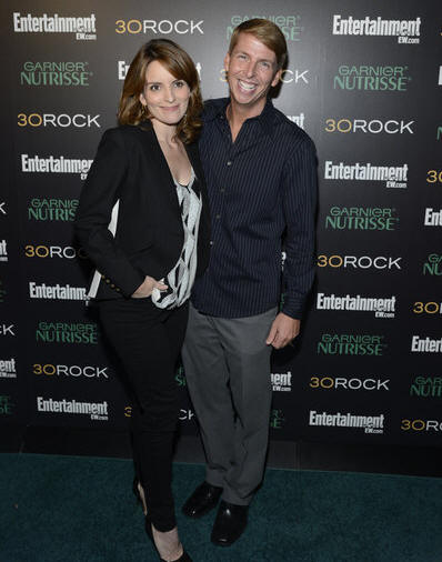 30 ROCK -- Season 7 Premiere Event -- Pictured: (l-r) Tina Fey, Jack McBrayer -- (Photo by: Mike Coppola/NBC)