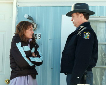 Melissa Leo and Michael O'Keefe in 'Frozen River.'
