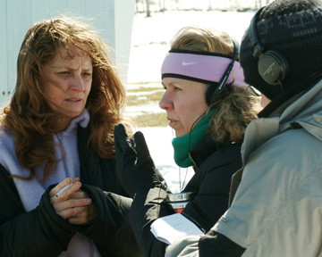 Melissa Leo and Courtney Hunt making 'Frozen River.'