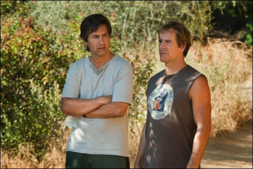 Ray Romano and Scott Bakula in MEN OF A CERTAIN AGE.