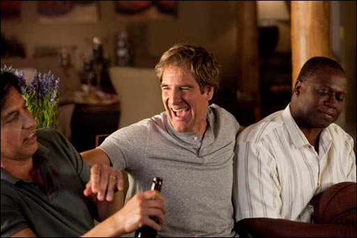 Ray Romano, Scott Bakula and Andre Braugher in MEN OF A CERTAIN AGE.