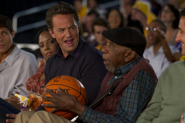GO ON -- Episode 103 -- Pictured: (l-r) Matthew Perry as Ryan, Bill Cobbs as George -- (Photo by: Justin Lubin/NBC)