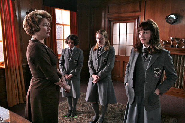 Emma THompson and Carey Mulligan stas in 'An Education.'