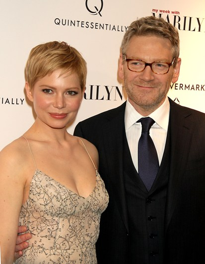 Michelle Williams and Kenneth Branagh at the red carpet premiere of 'My Week with Marilyn.'