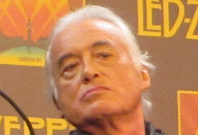 Jimmy Page of Led Zeppelin at the New York Museum of Modern Art press conference for the release of �Celebration Day.�