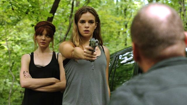 Nicole LaLiberte, Danielle Panabaker and Andrew Howard star in GIRLS AGAINST BOYS.