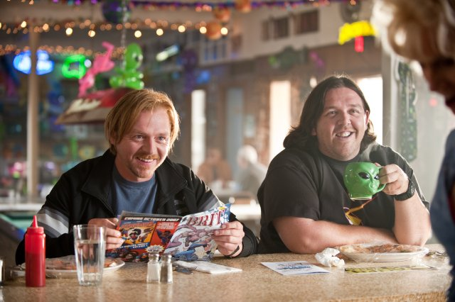 Simon Pegg and Nick Frost in the movie PAUL.