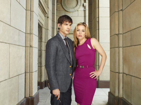 COVERT AFFAIRS -- Season:1 -- Pictured: (L-R) Christopher Gorham as Auggie Anderson, Piper Perabo as Annie Walker -- Photo by: Robert Ascroft/USA Network