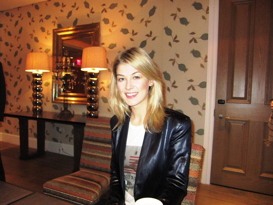 Rosamund Pike at the New York Press Day for BARNEY'S VERSION at the Crosby Street Hotel, New York, NY, January 10, 2011.