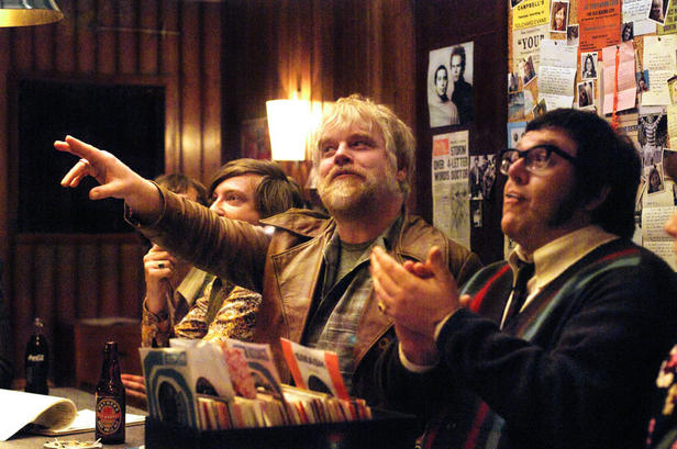 Chris O'Dowd, Philip Seymour Hoffman and Nick Frost in 'Pirate Radio.'