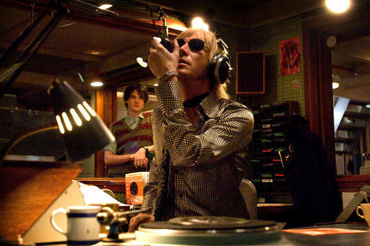 Tom Sturridge and Rhys Ifans in 'Pirate Radio.'