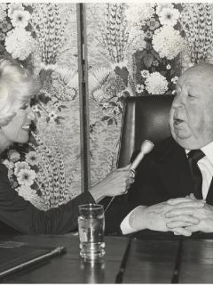 Rona Barrett with Sir Alfred Hitchcock