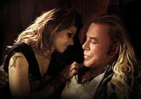 Marisa Tomei and Mickey Rourke in 'The Wrestler.'
