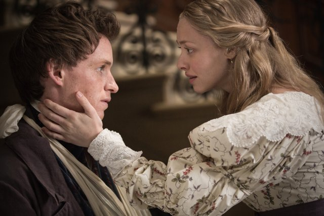 Eddie Redmaybe and Amanda Seyfried star as Marius and Cosette in 'Les Misérables.'