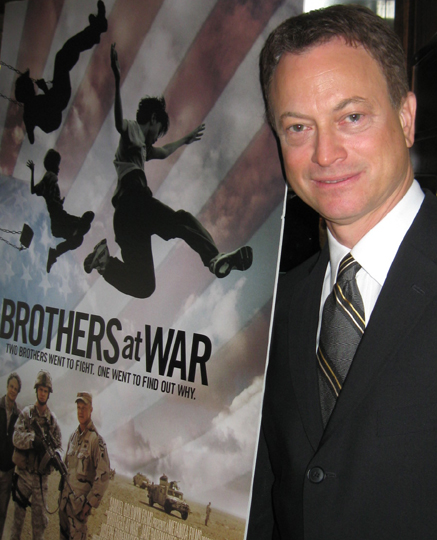 Gary Sinise at the roundtable interview about 'Brothers at War.'