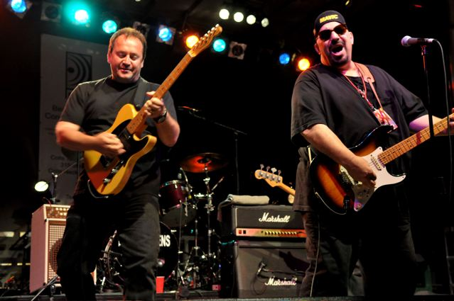 Jim Babjak, Dennis Diken and Pat DiNizio of The Smithereens - Carteret Park - Carteret, NJ - September 4, 2010 - photo by Jim Rinaldi � 2010