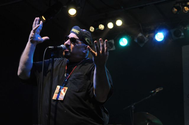 Pat DiNizio of The Smithereens - Carteret Park - Carteret, NJ - September 4, 2010 - photo by Jim Rinaldi � 2010