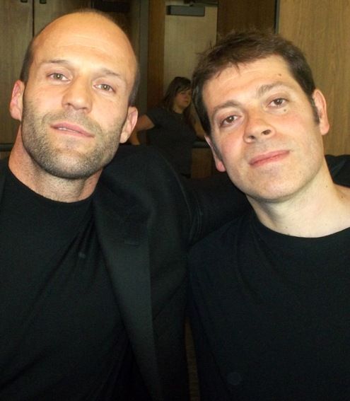 Jason Statham and Boaz Yakin at the New York press day for 'Safe'