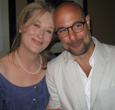 Meryl Streep and Stanley Tucci at the New York press conference for 'Julie and Julia.'