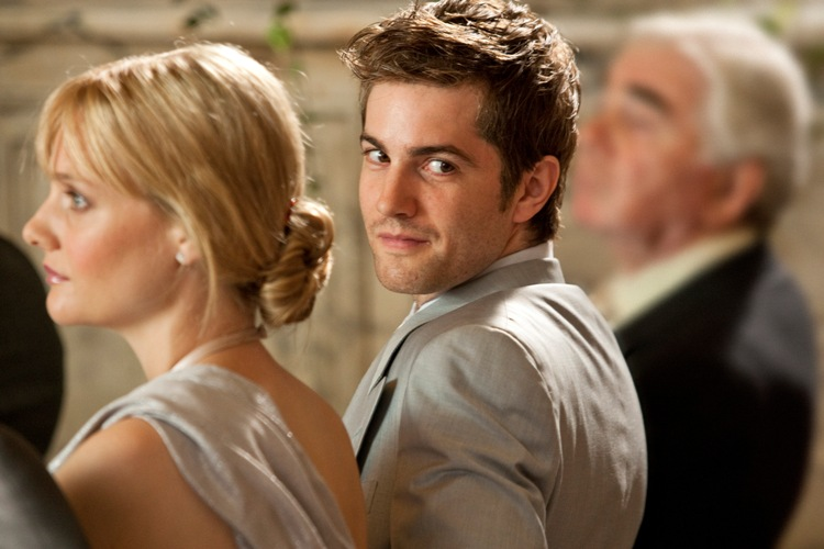 Romola Garai (left) and Jim Sturgess (right) star as Silvie and Dexter in the romance ONE DAY, a Focus Features release directed by Lone Scherfig.