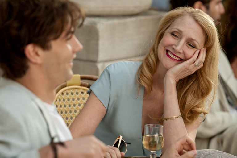 Jim Sturgess (left) and Patricia Clarkson (right) star as Dexter and Alison in the romance ONE DAY, a Focus Features release directed by Lone Scherfig.
