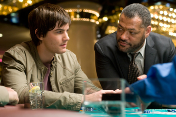 "Jim Sturgess and Lawrence Fishburne in ""21."""